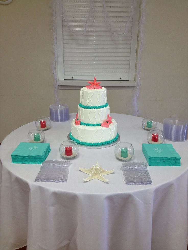 Buttercream wedding cake, Orange beach and Coral on Pinterest