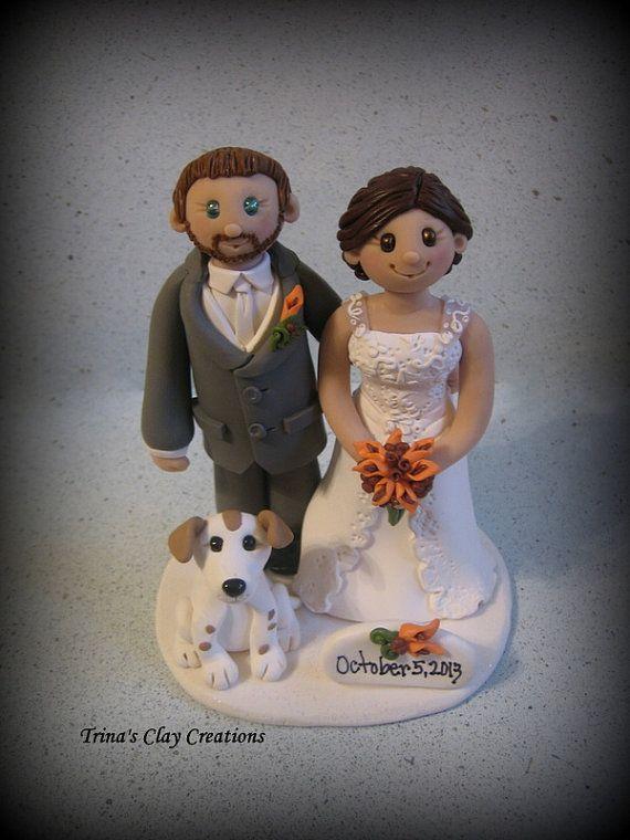 Custom Wedding Cake Toppers Bride And Groom
