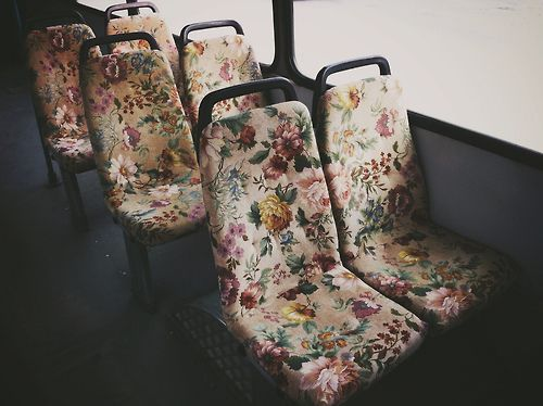 floral buss seats. so cool!