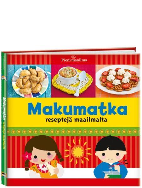 Iloisesti kuvitetun Makumatka-kirjan resepteissä on niin tuttuja kuin vähän tuntemattomampiakin makuja. Miltä kuulostaisi espanjalainen aamiaismunakas? Tekisittekö lounaaksi kanadalaista juustokeittoa tai kiinalaisia seesaminuudeleita? Kirjassa on myös illallisten ja jälkiruokien ohjeita. Ohjeita on helppo noudattaa, eivätkä maut ole liian erikoisia lasten suuhun. Mukana on myös hauskoja pikku tietoiskuja eri maiden ruokakulttuureista.