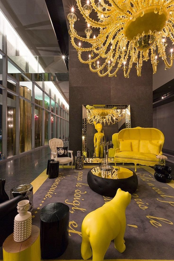Colorfull interior. Мир причудливой утонченности by Philippe Starck | Interior design view
