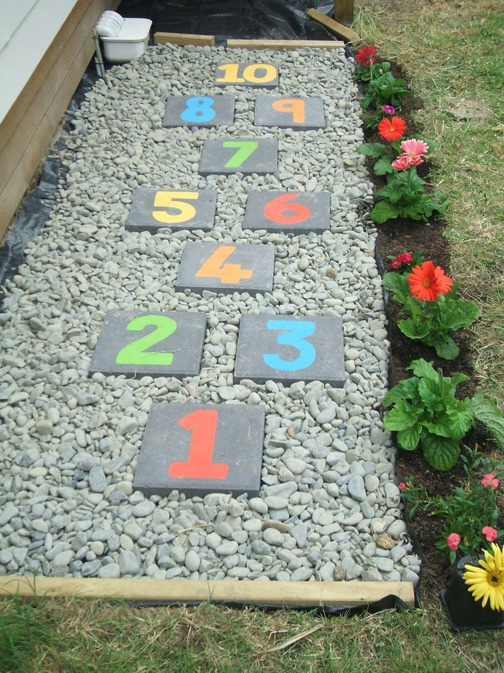 My HopScotch Game in the garden love it so much