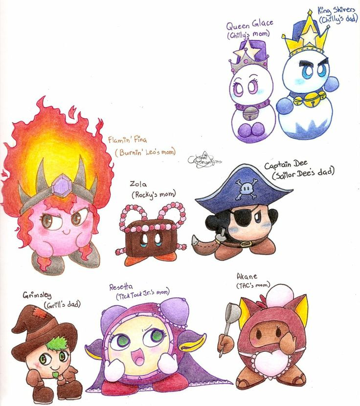 All Kirby Characters   Kirby Character Parents by Chenanigans on deviantART