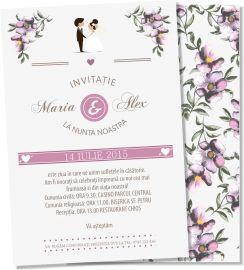Invitatie nunta Purple Love