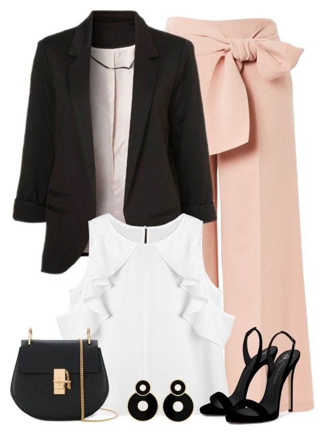 """""""Chic Office Look"""" by majezy on Polyvore featuring Topshop, WithChic, Chloé and Giuseppe Zanotti"""