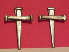 Small Nail Cross Palanca/Agape are actual crosses made from masonry nails and are powerful gifts for either a men or women's renewal weekend.