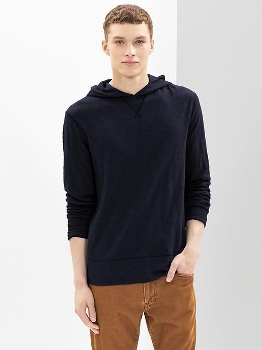 $12 GAP Lightweight slub hoodie..looks more dark blue