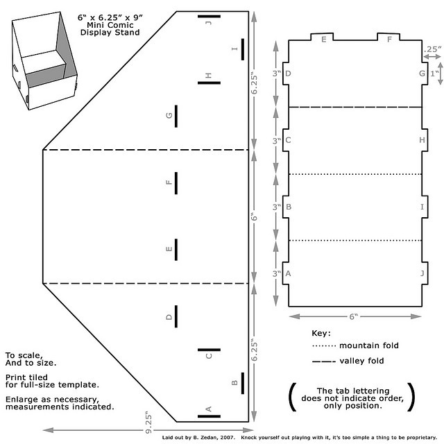 bouwtekening van speelhuis / template play house from: http://www.veetje.be/kartonnen-poppenhuis/