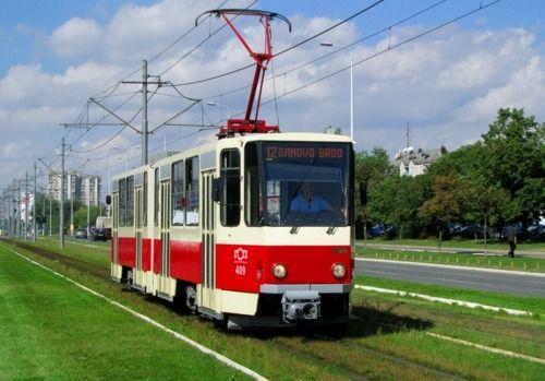 A tram in Belgrade, Serbia - Tramvaj u Beogradu, Srbija