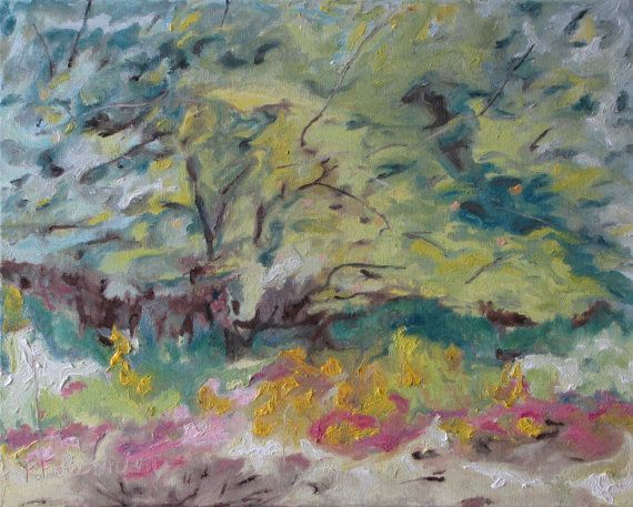 François Fournier Canadian Impressionist  http://francoisfournierart.com/  This painting depicts a wild apple tree on a bushy field. This is taking place in the middle of the Appalachians in the Eastern Townships of Quebec, Canada.