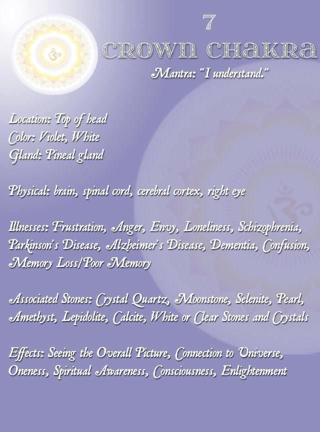 7. The Crown Chakra, repinned by http://Reiki-Mater-Training.com