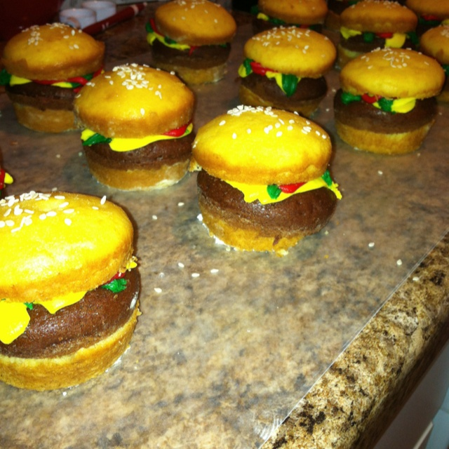 Krabby Patty Cupcakes I Made For My Son S Spongebob Party