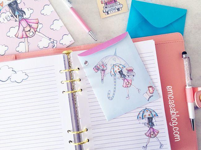 Em Casa Blog: Free Planner Printables - Planner Girl Rain