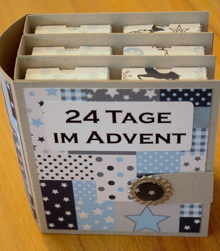 Zur Abwechslung mal wieder ein Adventskalenderchen. Diesmal ein Adventskalenderbuch Jeden Tag eine kleine Box öffnen, es passt genau... Mehr