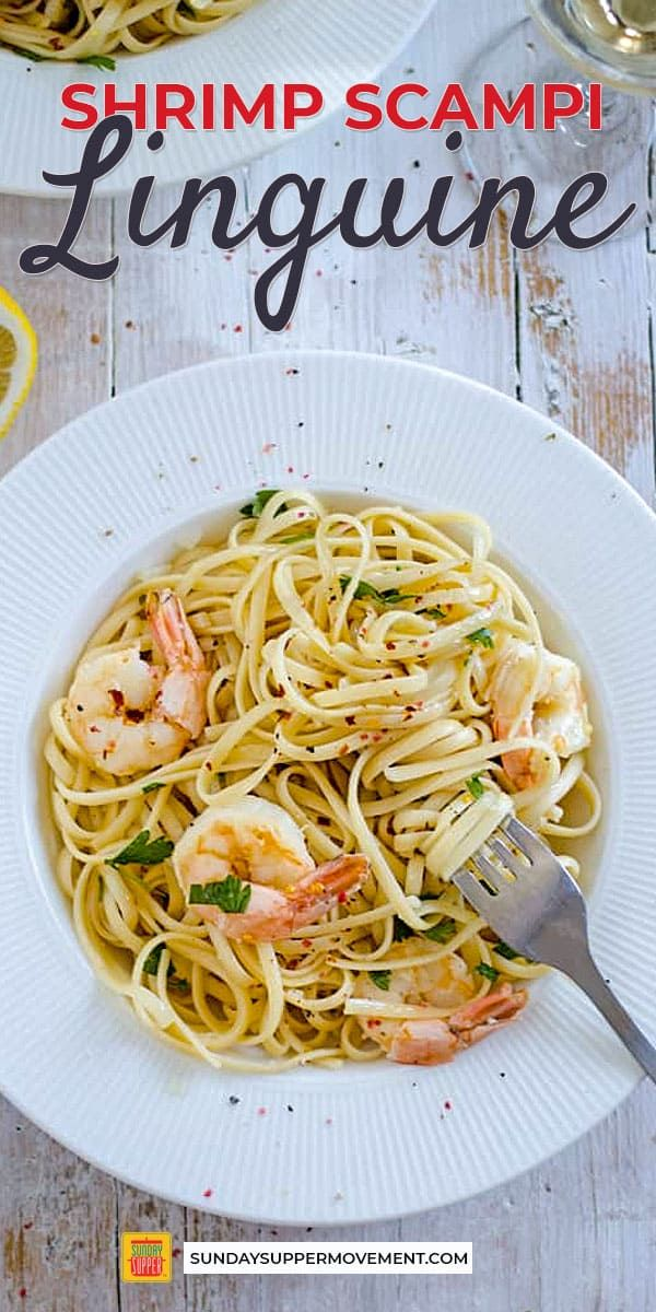Cook a five-star meal in your own kitchen! Restaurant-worthy Shrimp Scampi Lingu…