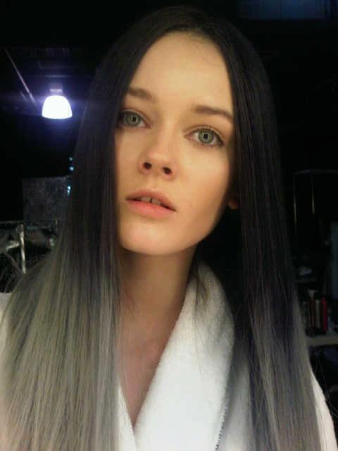 black-silver hair