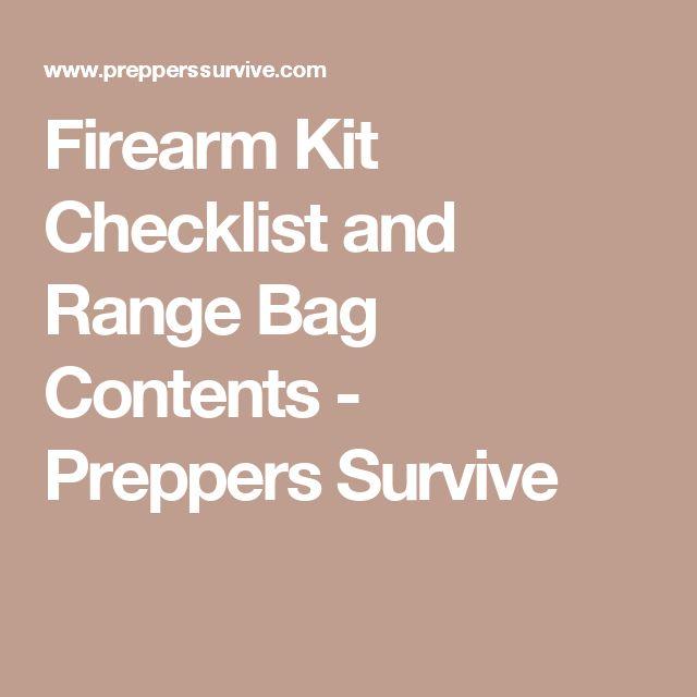 Firearm Kit Checklist and Range Bag Contents - Preppers Survive
