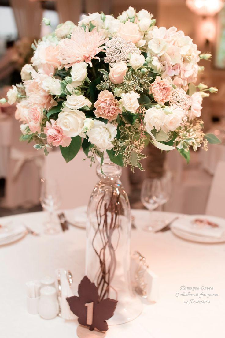 Оформление осенней свадьбы, ресторан Гуси-Лебеди. Флорист Пашкова Ольга #цветы #свадьба #оформление #декор