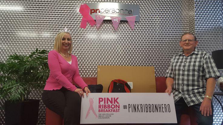 Today's Pink Ribbon Raffle winner, Toddy! #pinkribbon #pnpinkribbon #pinkribbonhero