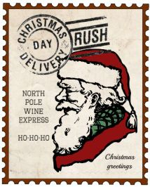 Free Printable Christmas Wine Bottle Label and tag found at thewinecrafter.com Go to find a free download and print a 3x4 label for your Christmas holiday!