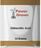 Gibberellic Acid 50 Gram Kit. Comes with 50 grams of 90% GA3, detailed instructions and a special measuring spoon so you dont have to use a milligram scale. This product is for research purposes only.