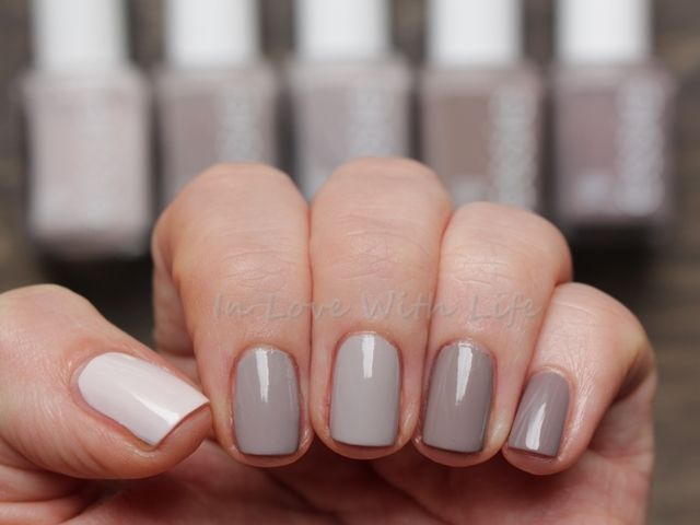5 Shades of Grey Essie. Urban Jungle (LE) | Master Plan | Take it outside (LE) | Miss Fancy Pants (LE) | chinchilly