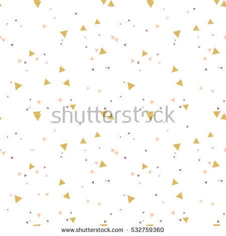 Colorful messy seamless pattern with triangles on white. Abstract chaotic geometric. Triangular geometrical background. Infinity geometric pattern. Vector illustration.