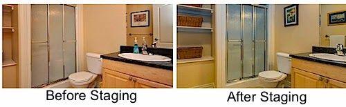 Bathroom stagingtips leovan design homestaging for Staging a bathroom ideas