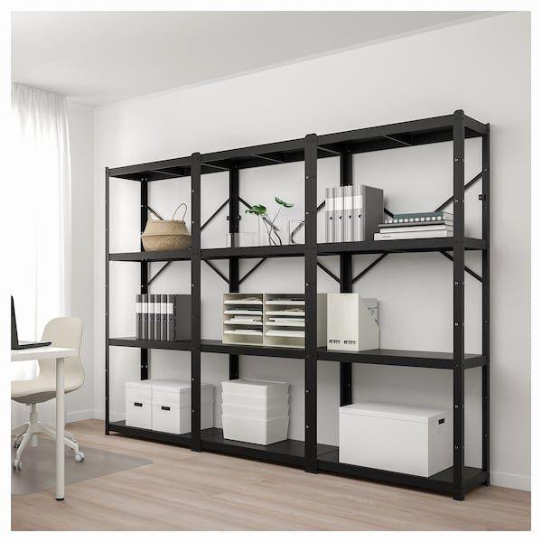 Ikea Living Room Tv Wall Units Unique Bror Shelving Unit Black Ikea Di 2020 Rak #shelf #unit #for #living #room