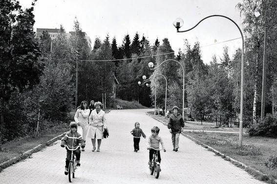 Hervanta, Ahvenisjärven ranta muutama vuosikymmen sitten