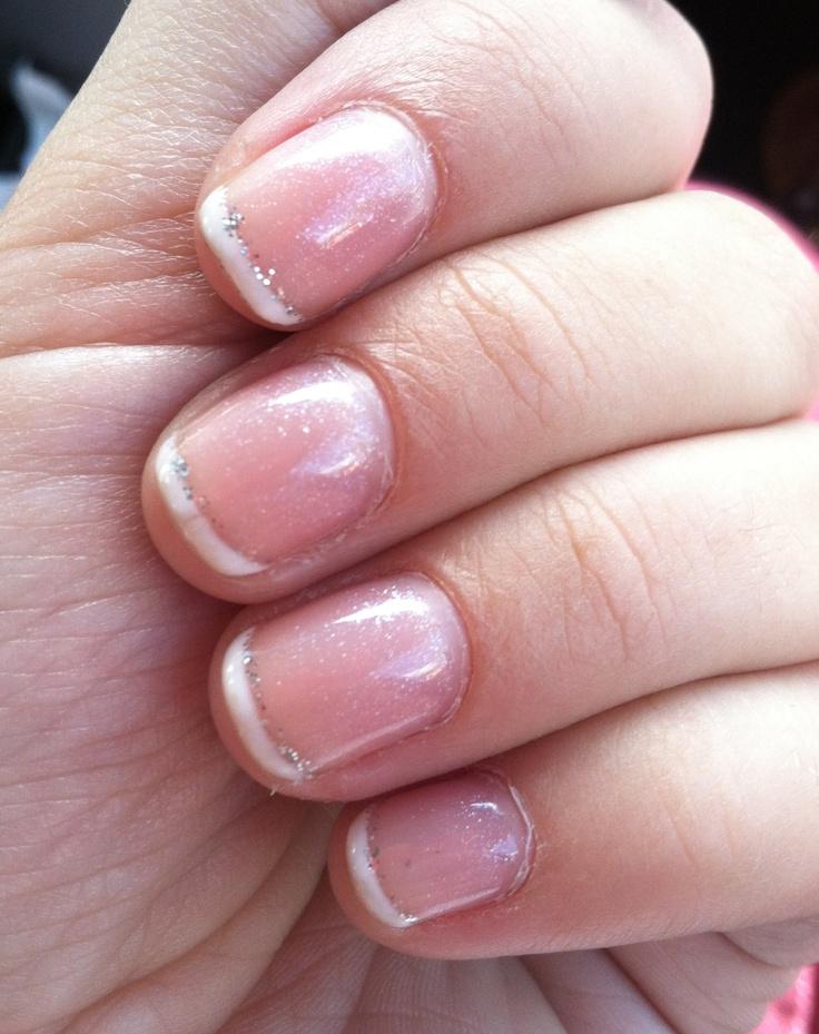 Gel manicure French tip | finger & toes | Pinterest