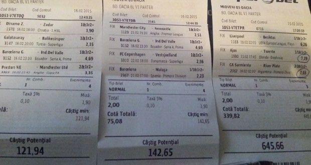 Bilete Pariuri : Madalin propune cateva variante de meciuri !