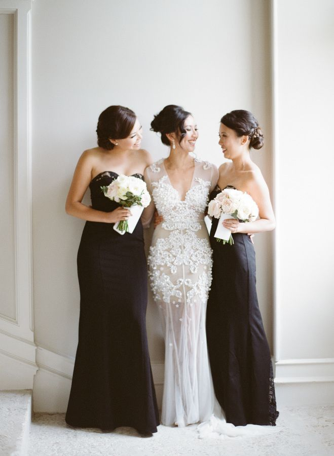 Style me pretty black bridesmaid dresses