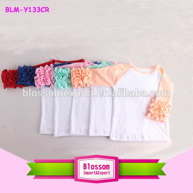 Source Wholesale baby girl blank raglan t shirts pattern customized pink icing ruffles children raglan kids cotton top on m.alibaba.com