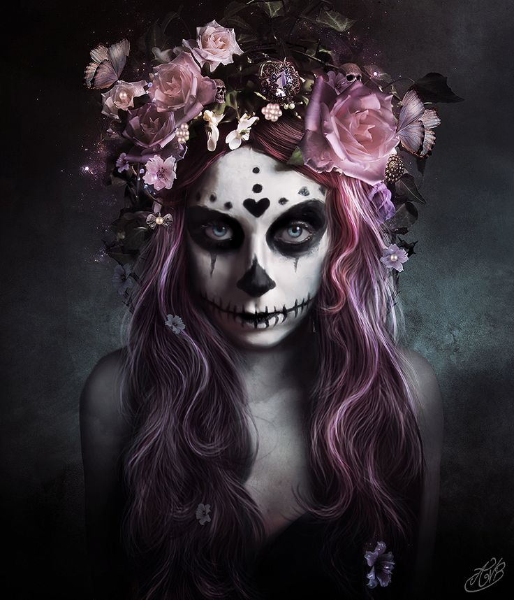 Dia de Muertos by AlexandraVBach.deviantart.com on @deviantART If I looked like this... I would look like this EVERY friggin day!!!