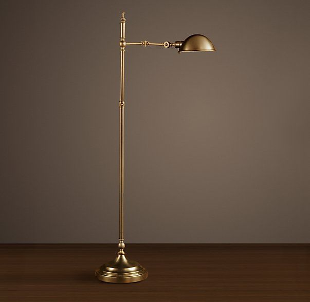 Delicieux Restoration Hardware Franklin Pharmacy Task Floor Lamp   Antique Brass Our  Task Lamp Ensures Ample, Perfectly Placed Illumination.