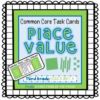 *Includes special rulers to help students find the place values of numbers!* This set of 30 task cards is aligned to 3rd grade standards, but also works great for 2nd grade enrichment and 4th grade remediation.  Students will enjoy sharpening their place value skills with (or without) the use of the place value rulers!