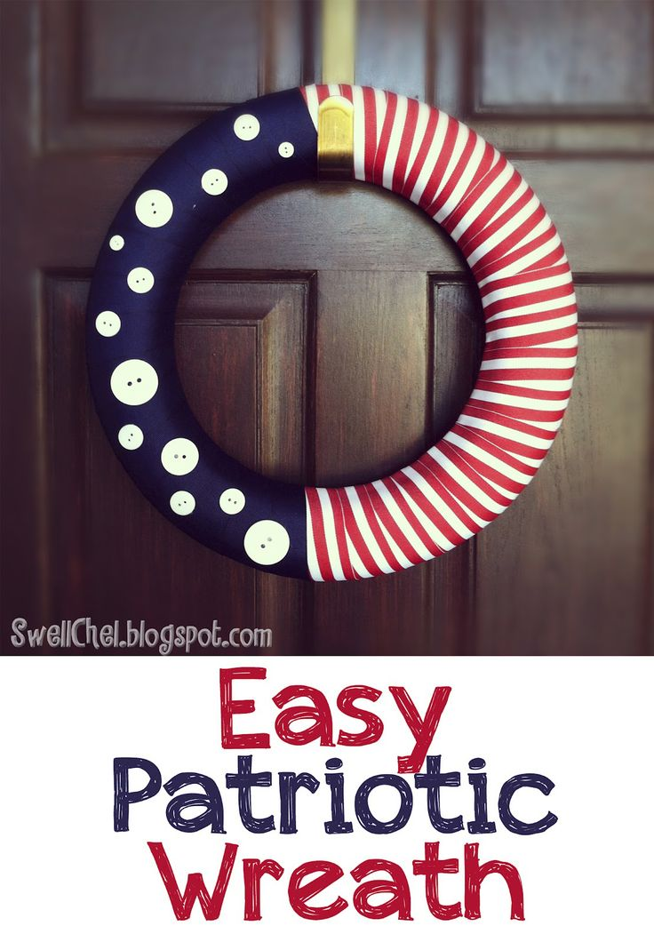 Easy Patriotic Wreath: July Wreaths, Fourth Of July, Patriots Wreaths, Holidays Ideas, Mom Shared, 4Th Of July, July 4Th, Patriots Holidays, Easy Patriots