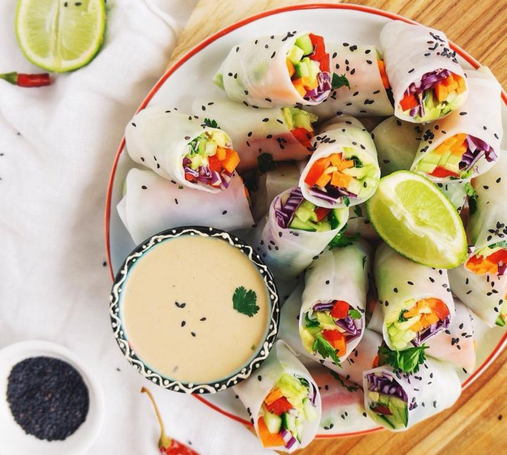 Colorful healthy snack via @anettvelsberg