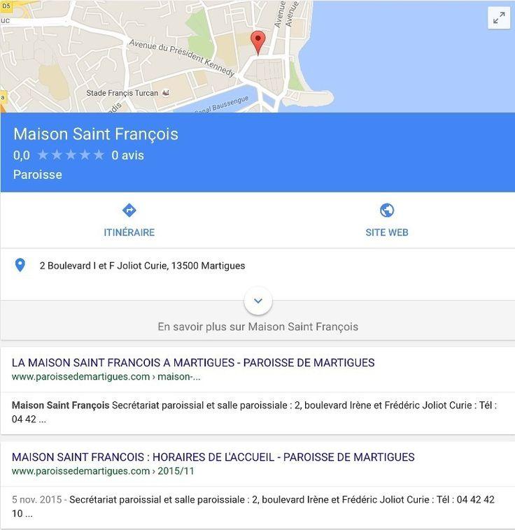 """En cliquant sur """"Itinéraire"""", Google map vous propose le meilleur itinéraire ! Vous pouvez aussi donner votre avis !"""