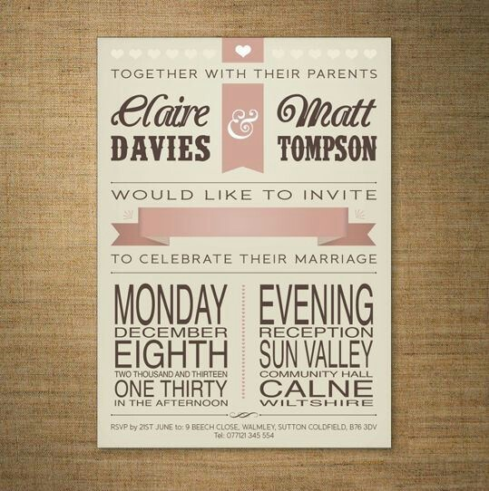 17 Best images about Wedding invites – Modern Classic Wedding Invitations