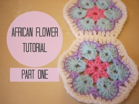 Part 1 - Great video on how to crochet African Flowers, really clear…
