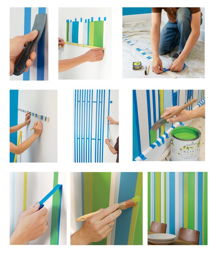 Pintura de paredes listradas