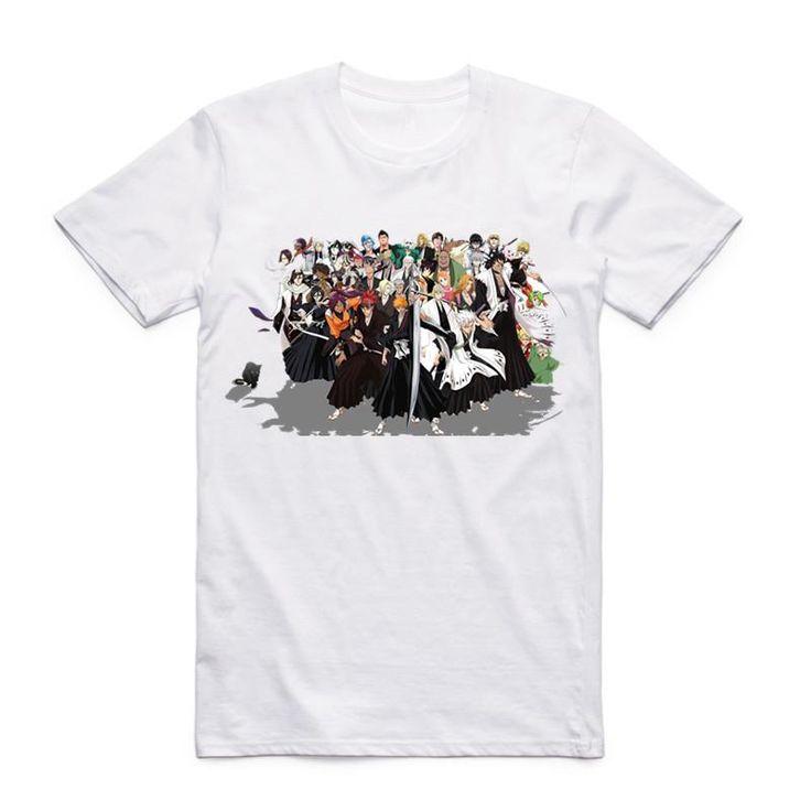 Bleach Japanese Anime Summer T-Shirt One Piece Naruto Fairy Tail (12 Styles)