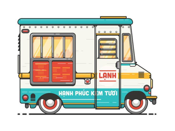 Vietnamese Ice Cream Truck by Mo Safavynia