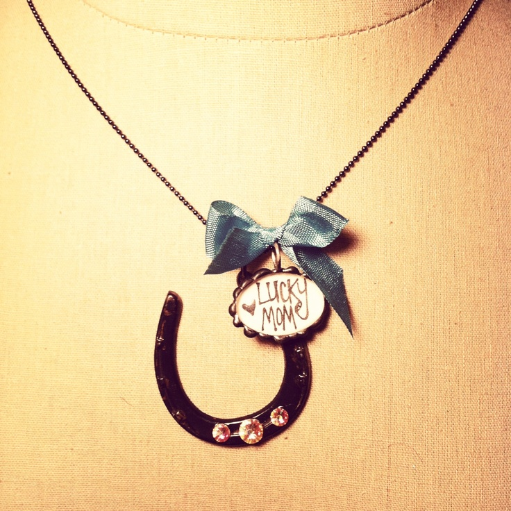 Lucky Mom Handwitten small Oval pendant with A by thehansenfamily, $36.00