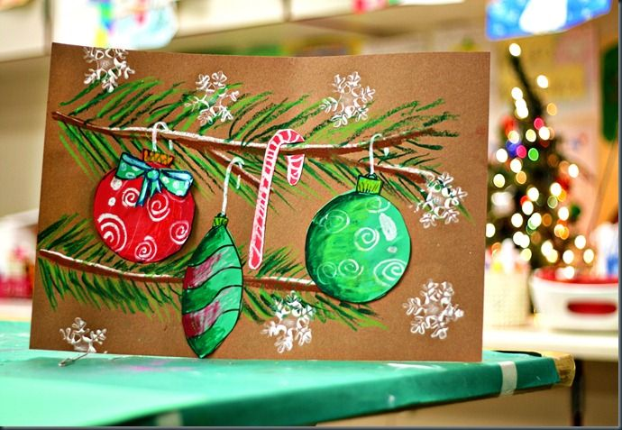 great class art project on this sitehttp://elementaryartfun.blogspot.com/2011/12/christmas-ornament-drawings.html