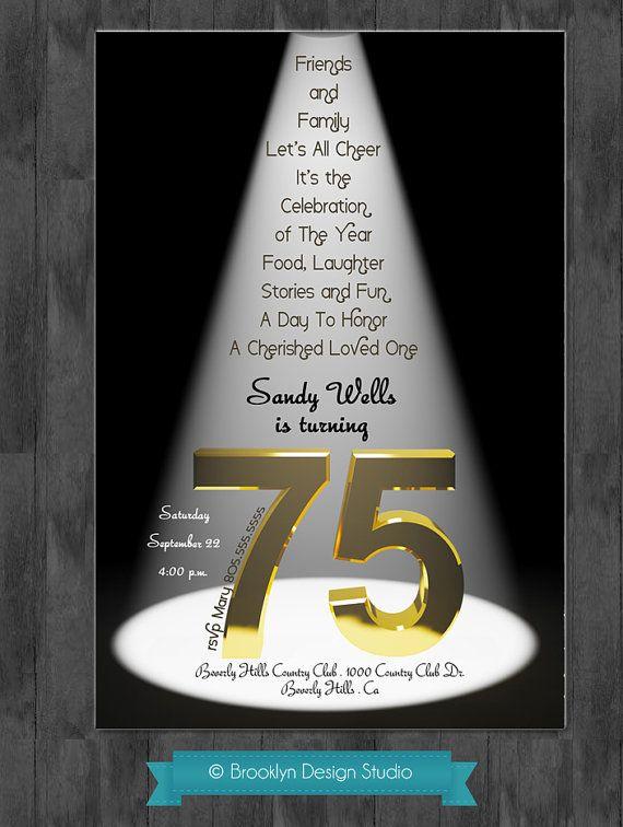 75th Birthday Bash  Custom Designed by BrooklynDesignStudio