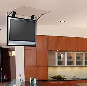 Kitchen TV Drops From The Ceiling