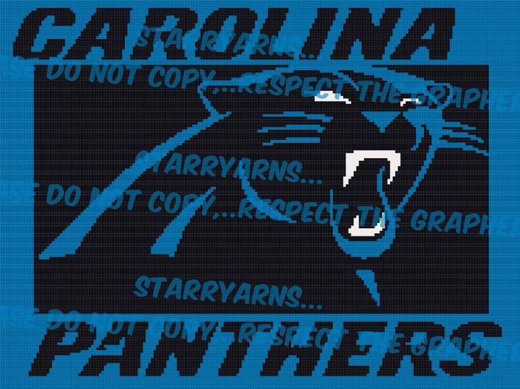 Name: Crocheting : Carolina Panthers NFL Crochet Graph